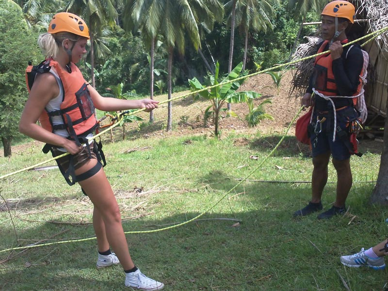 Practice before canyoning stars