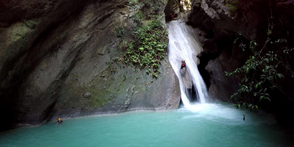 Canyoning at Tison Fall Cebu Island