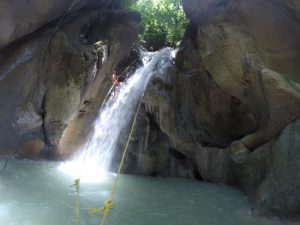 Canyoning at Montaneza falls Cebu
