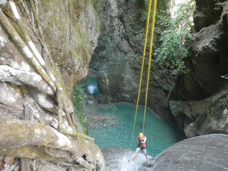Canyoning Tison Falls in Cebu Island