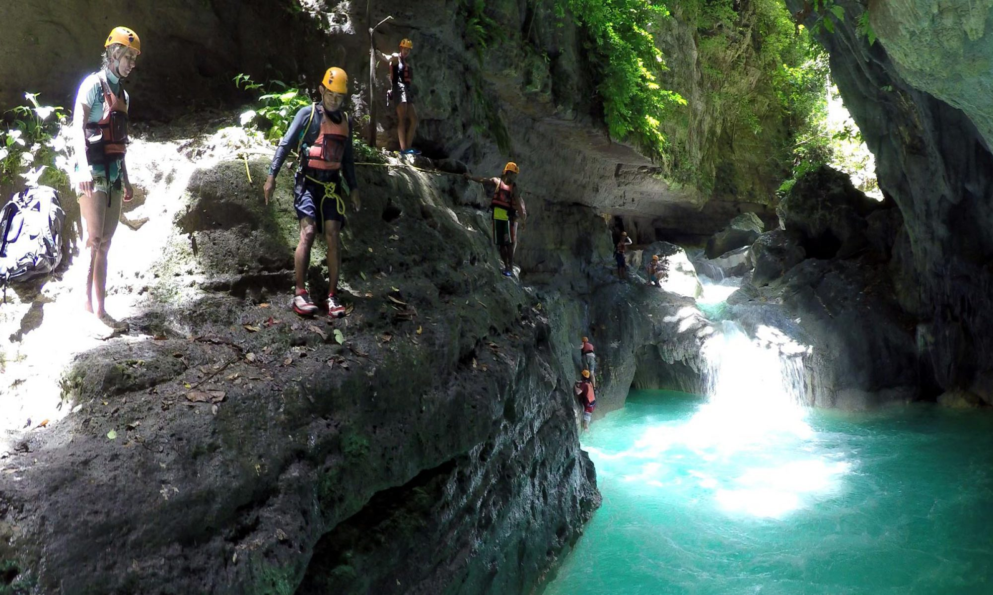 Canyoneering at Kawasan fall Badian and Alegria