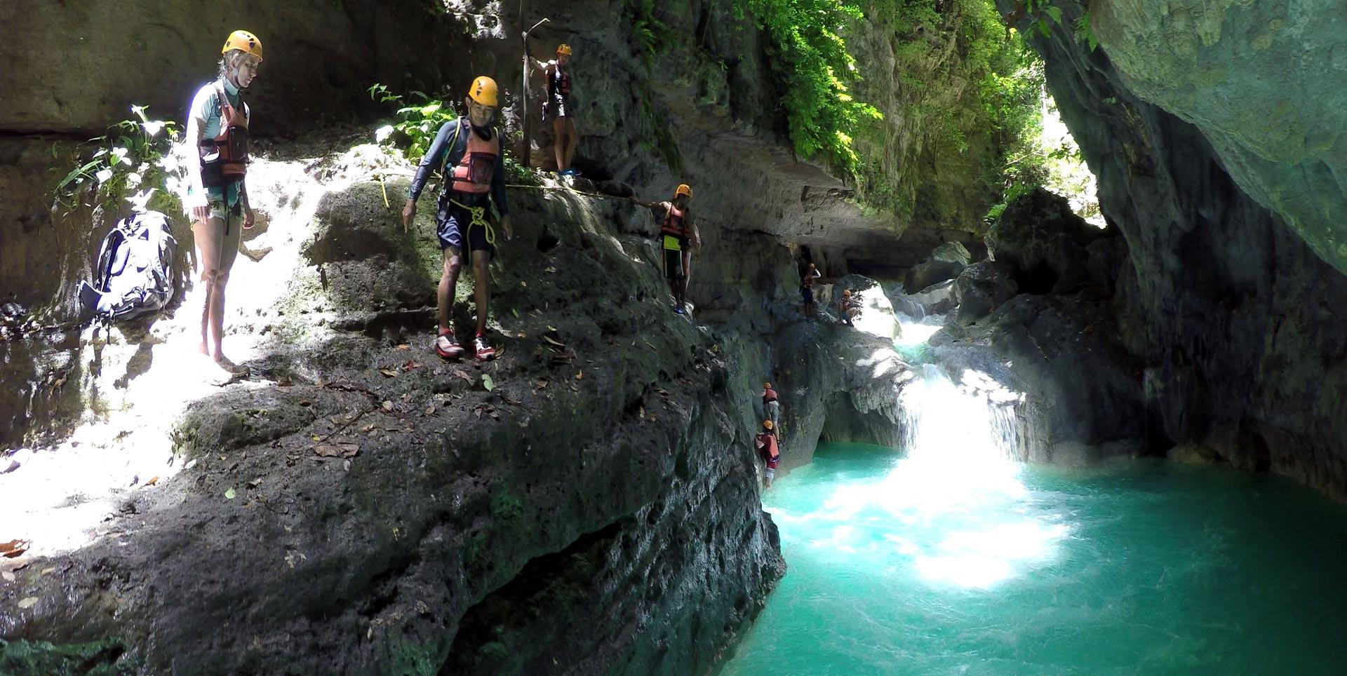 Canyoning at Kawasan Fall Badian and Alegria