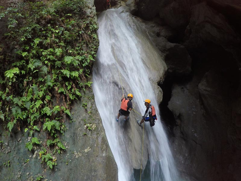 Canyoning at Tison Falls in Cebu