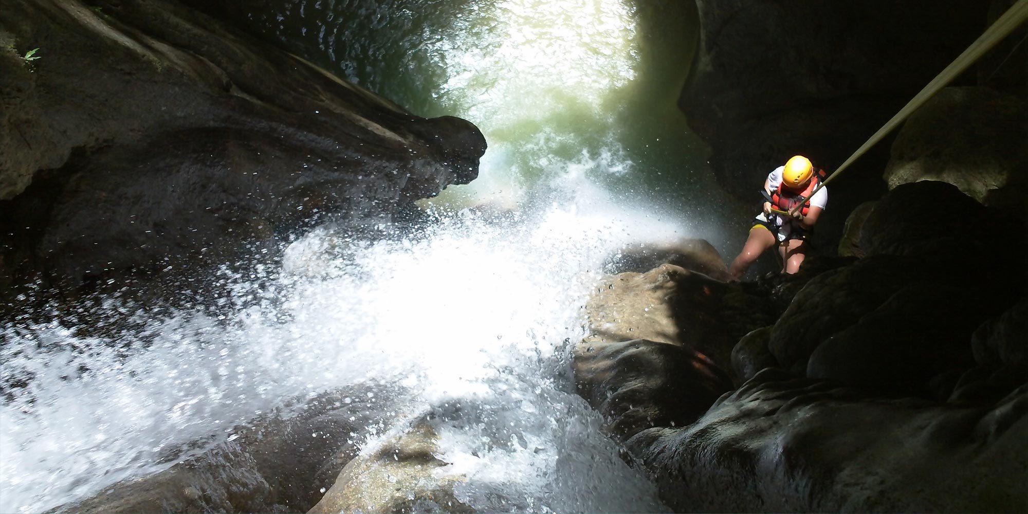 Canyoning at Montaneza Falls Cebu
