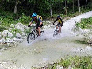 Splashy action during our hardcore Mountain bike rides