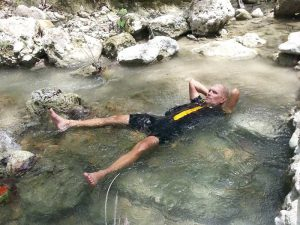 Cool down at Moalboal spring