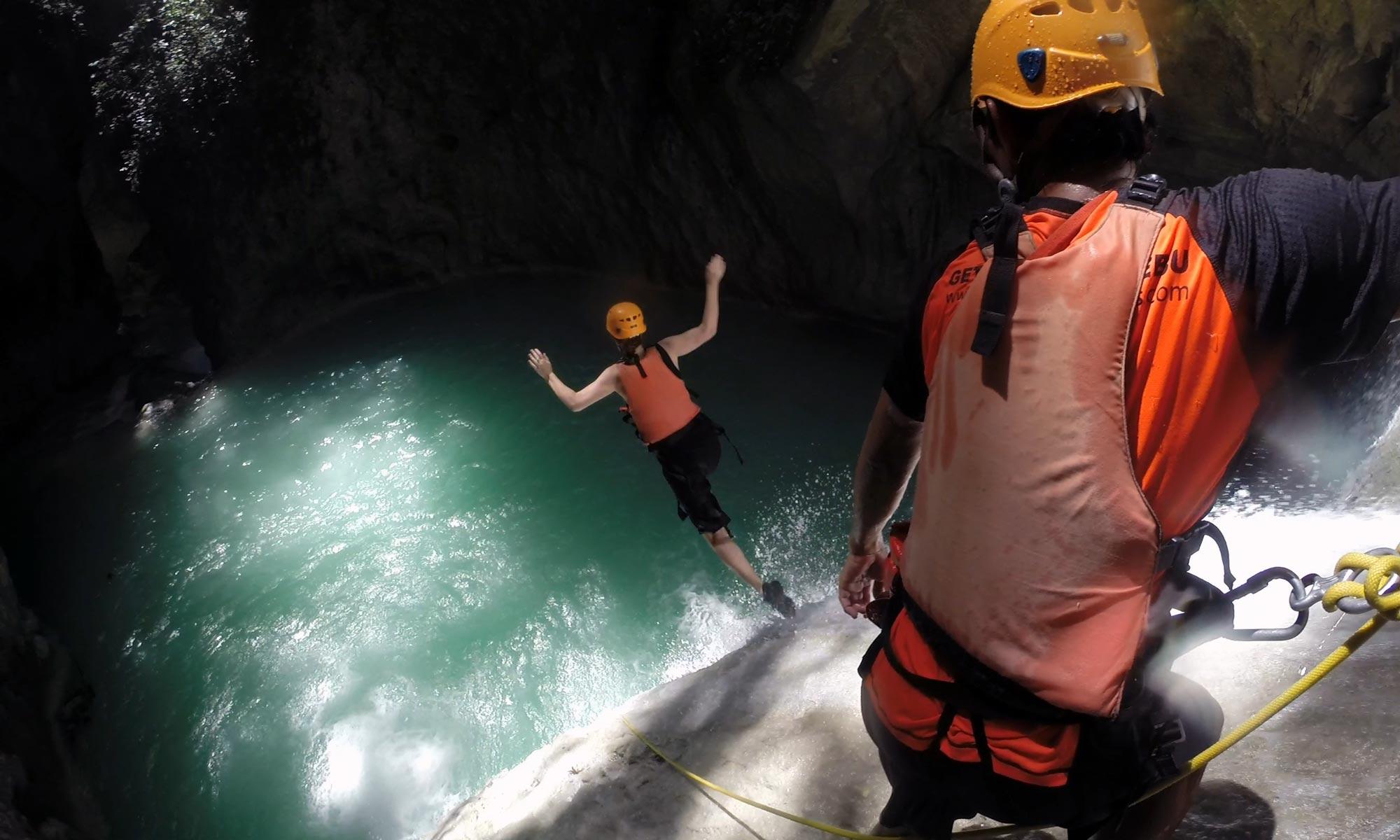 Canyoning at Tison falls Cebu