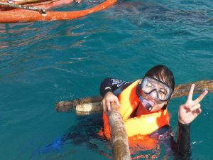 Snorkling with whale sharks in Oslob