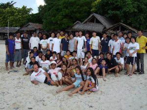 White beach party at Moalboal