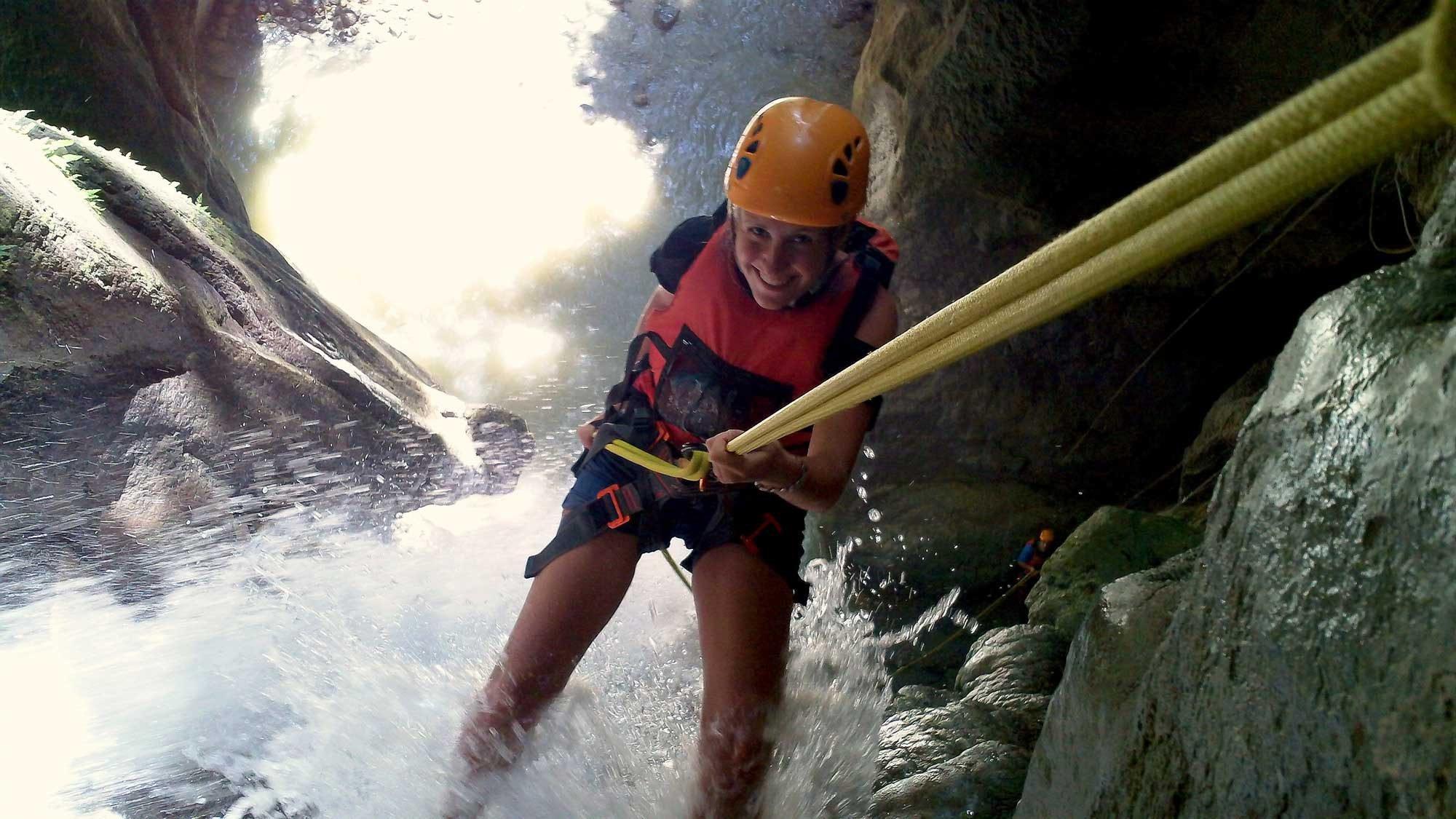 Teambuilding and Canyoning at Montaneza falls in Cebu