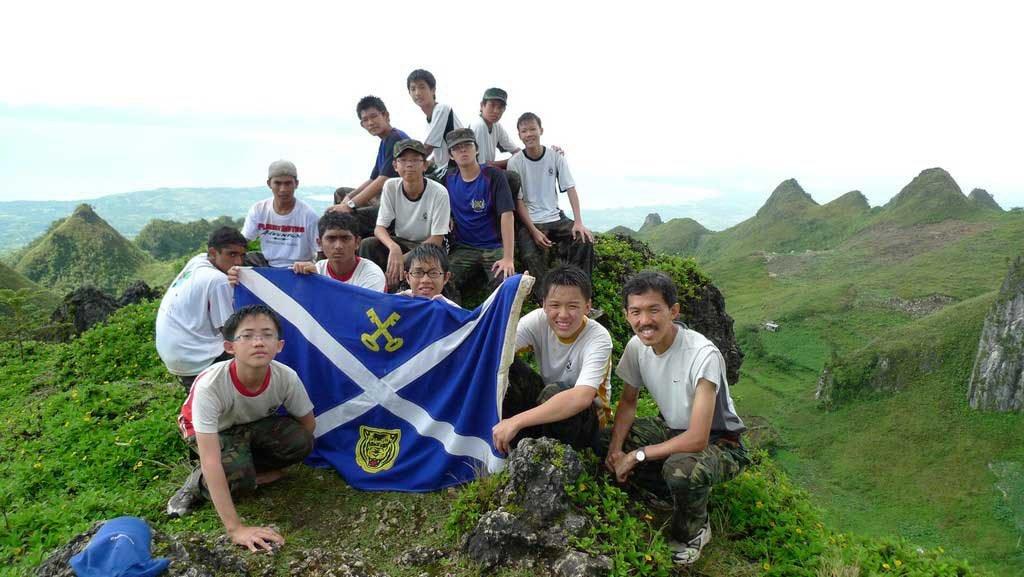 At top of Osmenea peak
