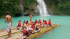 Rafting at Kawasan Falls in Cebu